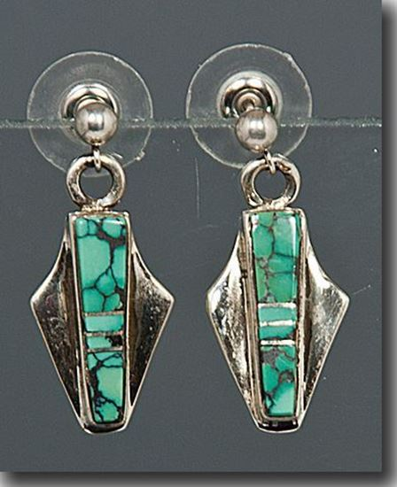 Nevada Blue Turquoise  earrings