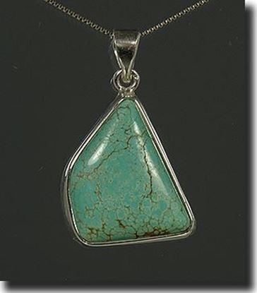 Matrix Turquoise Silver Pendant